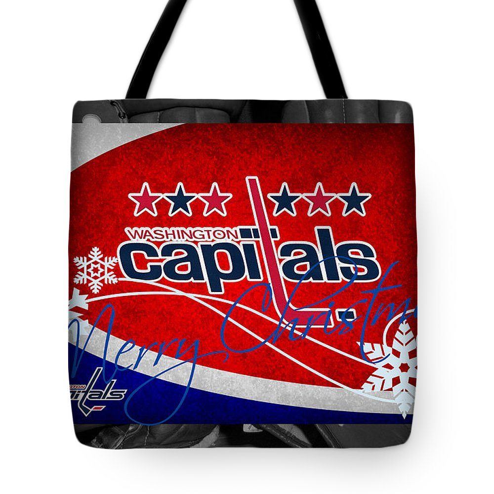 Capitals Tote Bag featuring the photograph Washington Capitals Christmas by Joe Hamilton