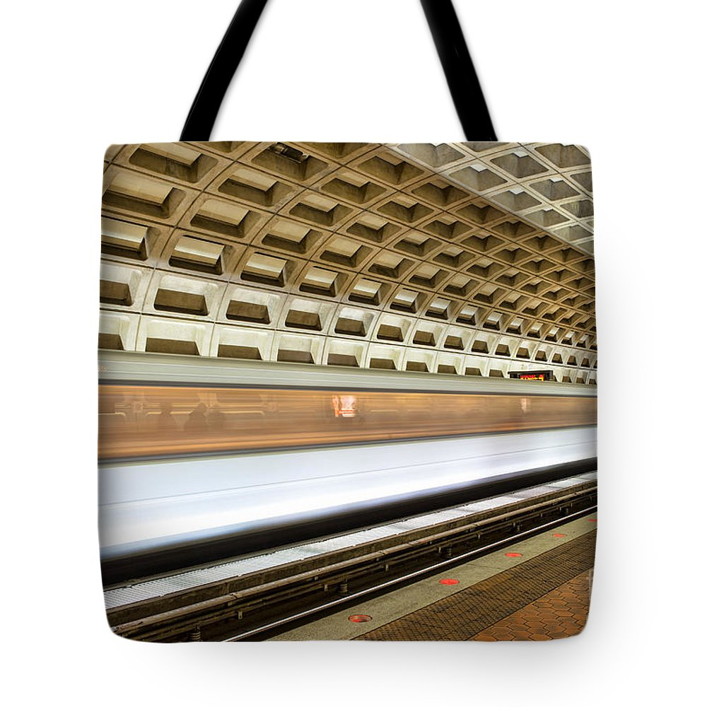 Clarence Holmes Tote Bag featuring the photograph Washington Dc Metro Station Vii by Clarence Holmes