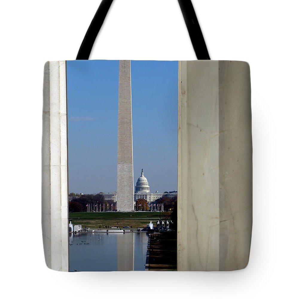 Washington Tote Bag featuring the photograph Washington Landmarks by Olivier Le Queinec