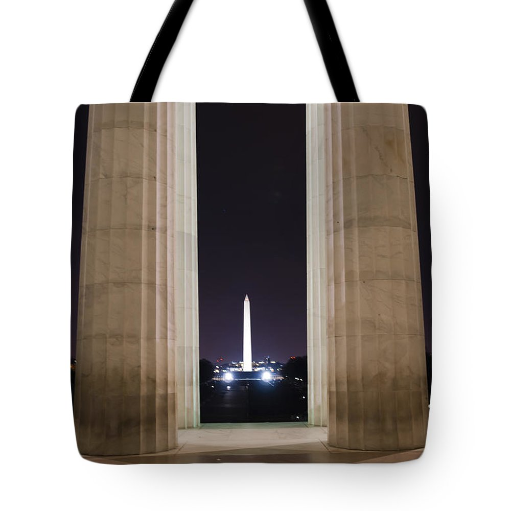 Nuview Tote Bag featuring the photograph Washington Monument by Theodore Jones