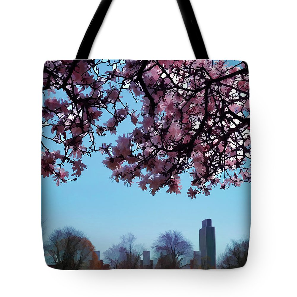 Albany Tote Bag featuring the photograph Washington Park II by Tina Baxter