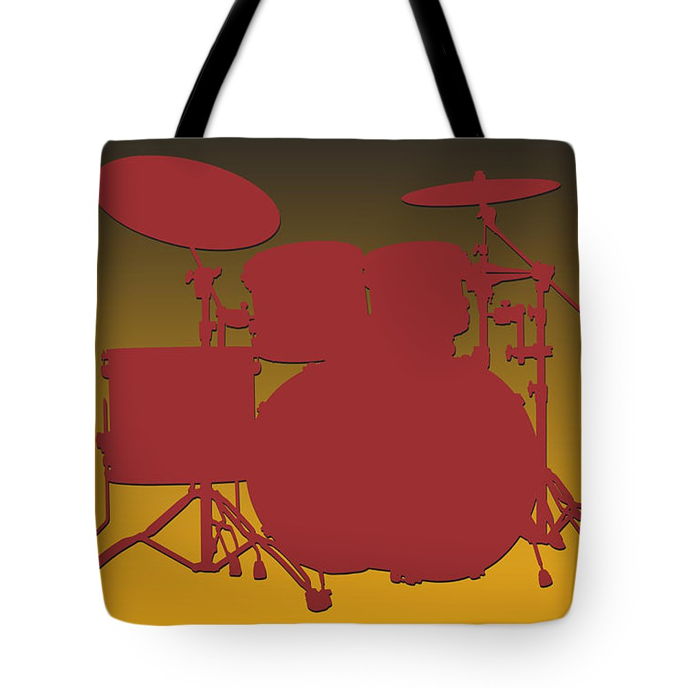 Redskins Tote Bag featuring the photograph Washington Redskins Drum Set by Joe Hamilton
