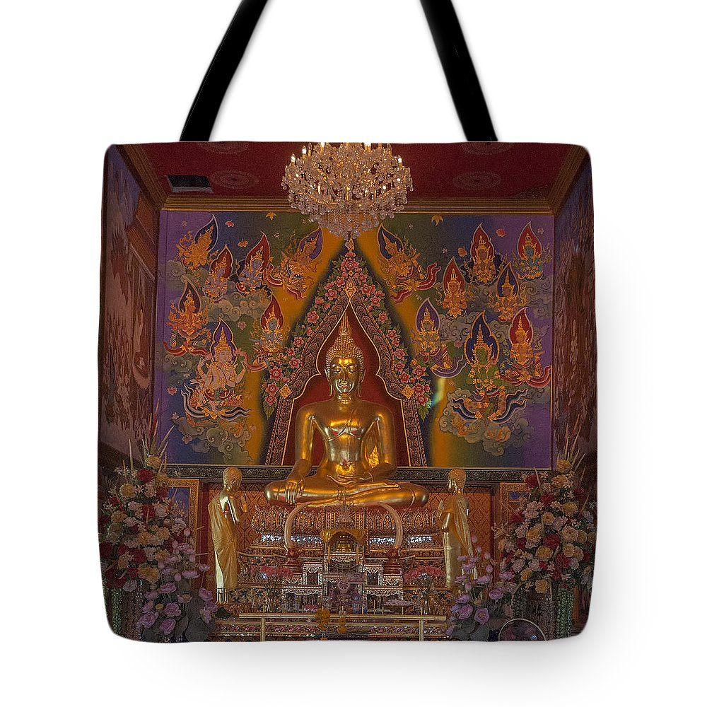Temple Tote Bag featuring the photograph Wat Bukkhalo Phra Ubosot Buddha Image Dthb1801 by Gerry Gantt