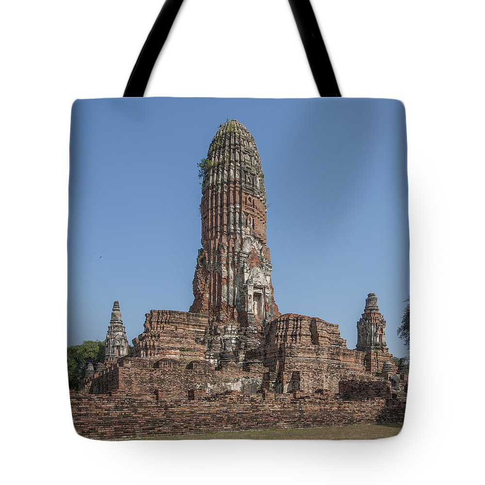 Scenic Tote Bag featuring the photograph Wat Phra Ram Great Central Prang Complex Dtha0157 by Gerry Gantt