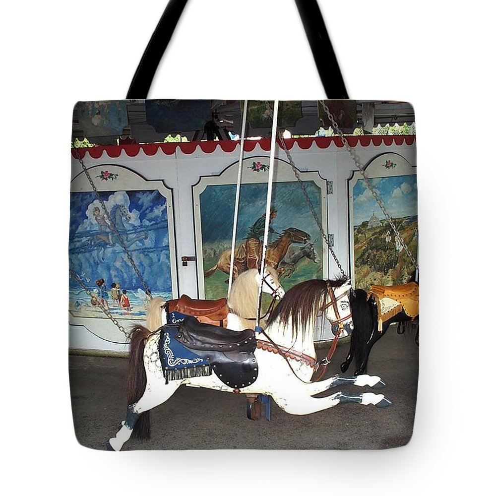 merry Go Round Tote Bag featuring the photograph Watch Hill Merry Go Round by Barbara McDevitt