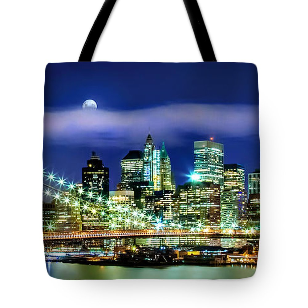 New York City Tote Bag featuring the photograph Watching Over New York by Az Jackson