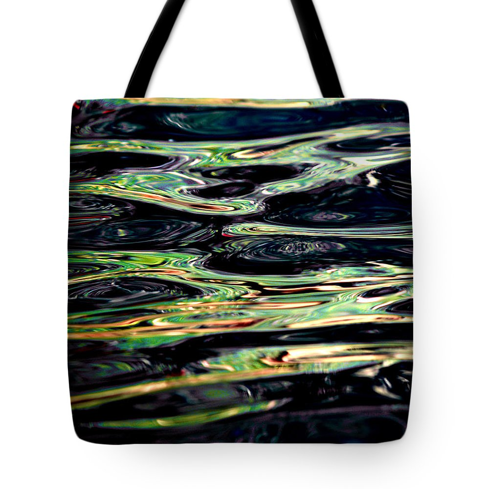 Pool Tote Bag featuring the photograph Water Abstract by Bill Gallagher
