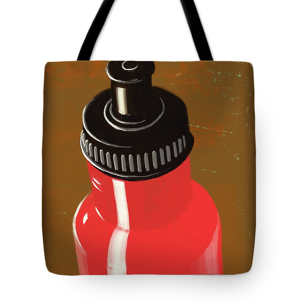 Purity Tote Bag featuring the digital art Water Bottle Illustration by Don Bishop