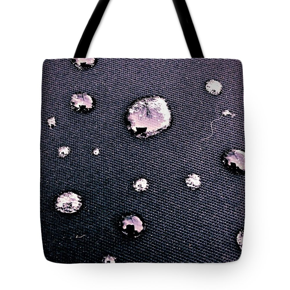 Water Tote Bag featuring the photograph Water Bubble Relections by Mark Valentine