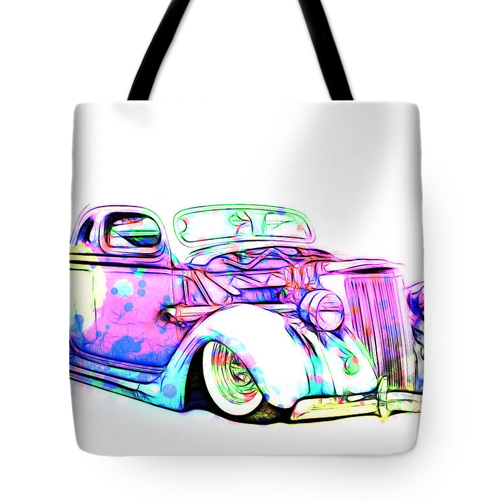 Ford Tote Bag featuring the photograph Water Colors 36 Ford by Steve McKinzie