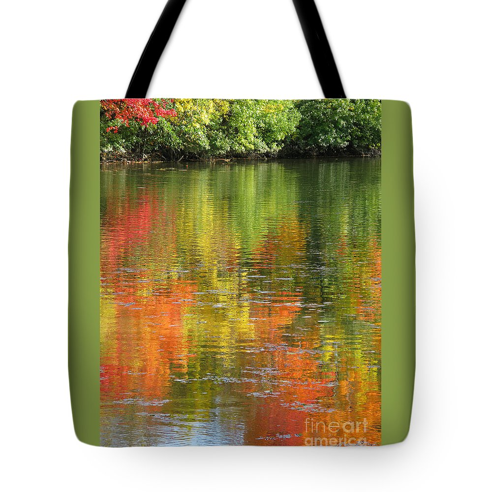 Autumn Tote Bag featuring the photograph Water Colors by Ann Horn