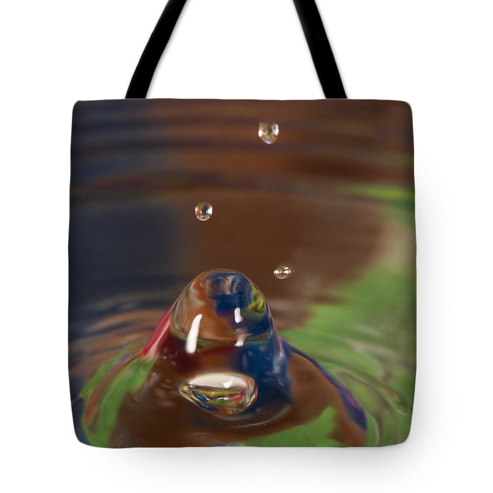 Abstract Tote Bag featuring the photograph Water Drop Abstract 6 by John Brueske