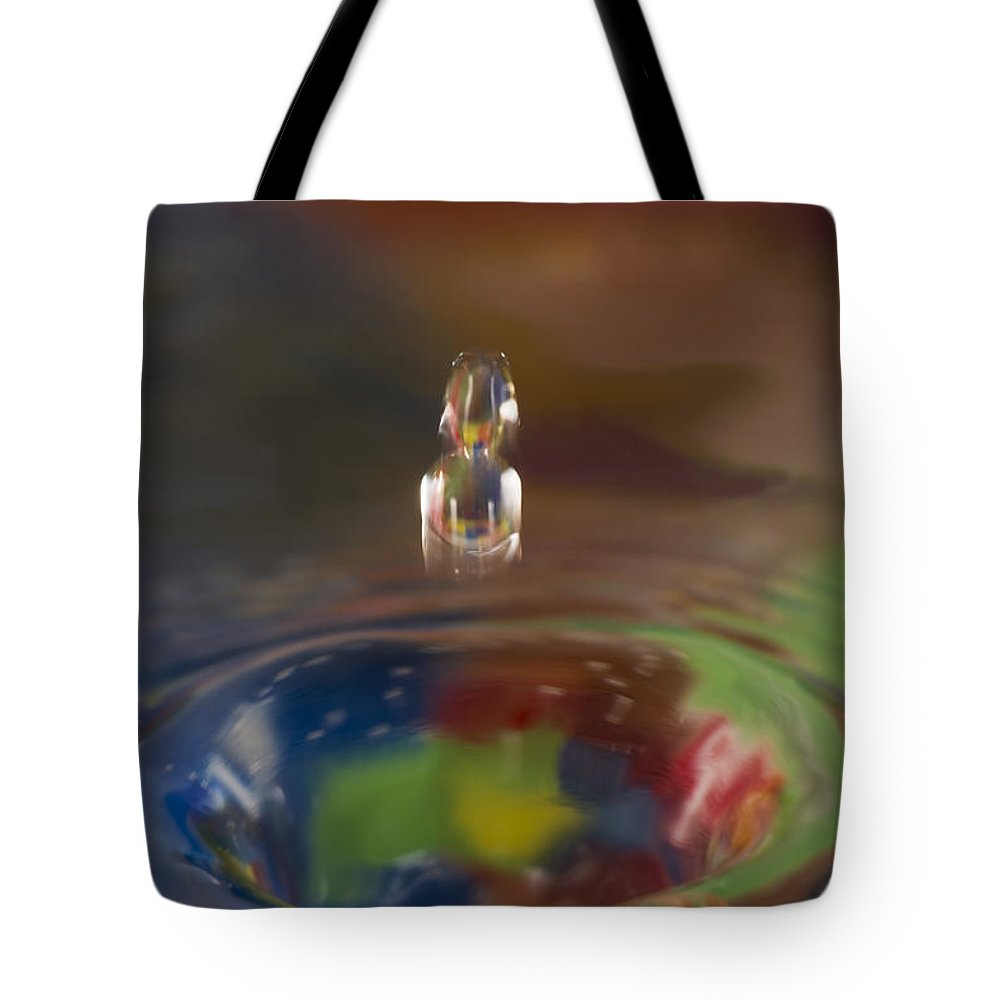 Abstract Tote Bag featuring the photograph Water Drop Abstract 7 by John Brueske