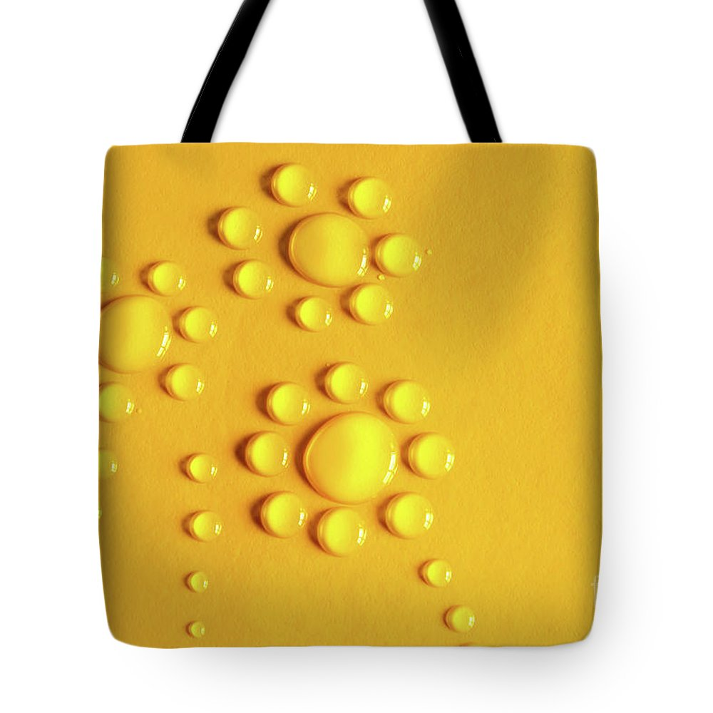 Water Droplets Photographs Tote Bags