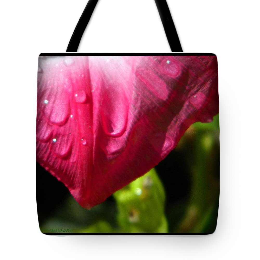 Cry Tote Bag featuring the photograph Water For Bees by Kathy Barney
