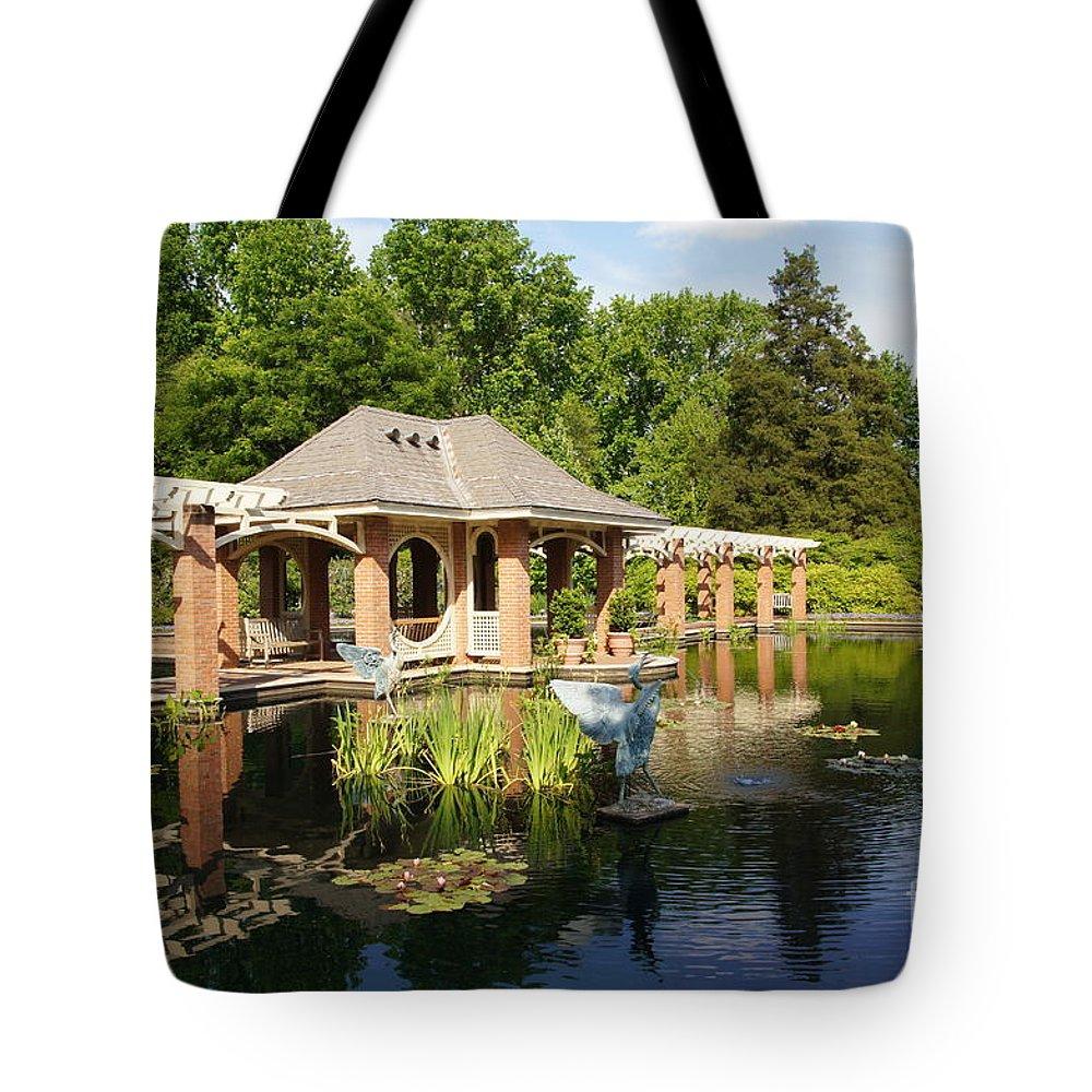 Botanical Garden Tote Bag featuring the photograph Water Garden Serenity by Megan Cohen