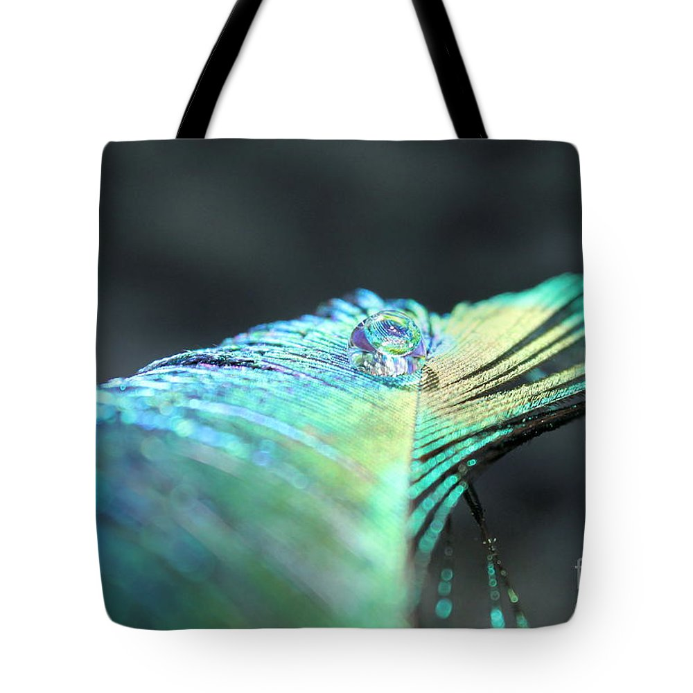 Peacock Feather Tote Bag featuring the photograph Water Globe by Krissy Katsimbras