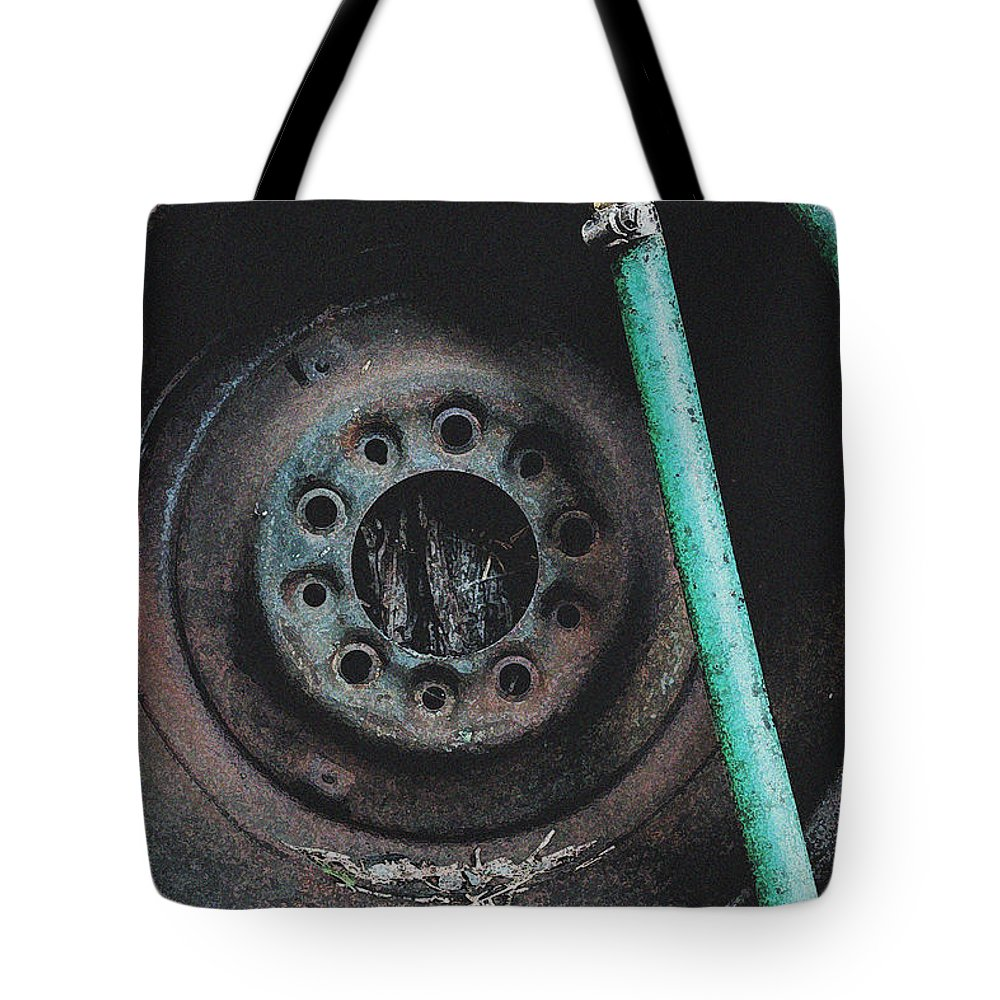 Water Hose Rim Tote Bag featuring the photograph Water Hose Rim 2 by Bill Owen