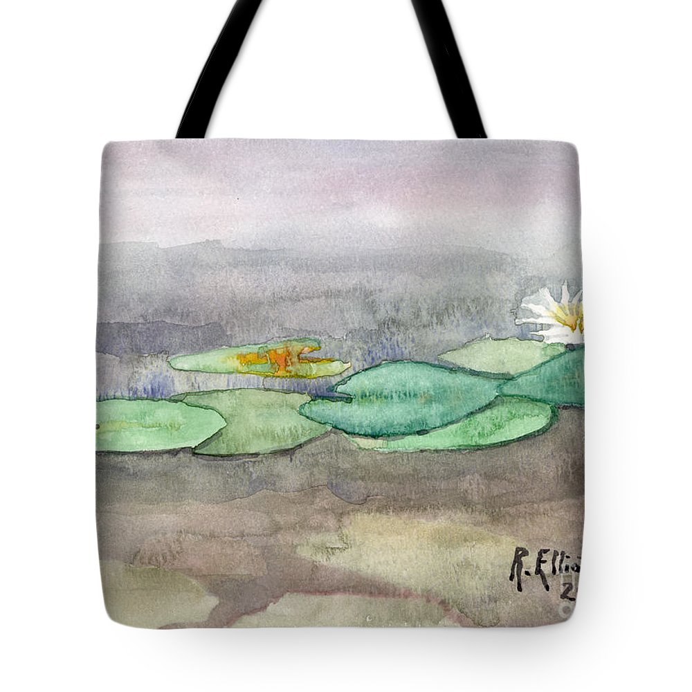 Acrylic Prints Tote Bag featuring the painting Water Lilly by John Herzog