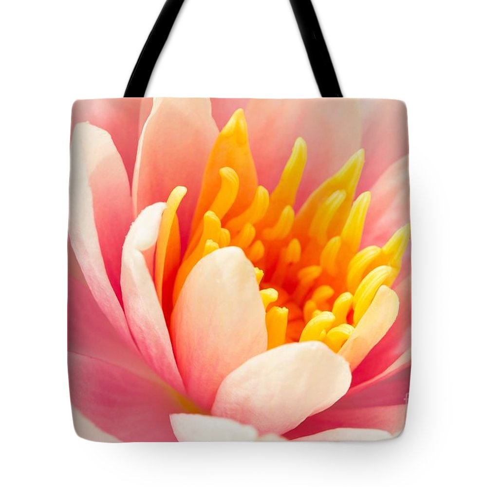 Lily Tote Bag featuring the photograph Water Lily by Lucy Raos