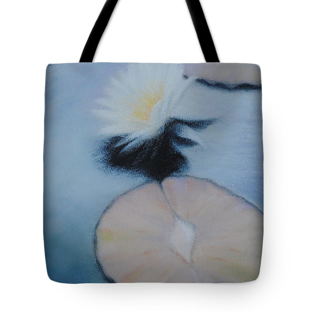Water Tote Bag featuring the painting Water Lily by Richard Ginnett