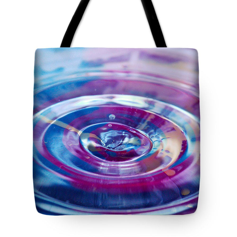 Water Drop Tote Bag featuring the photograph Water Splash Rings by Crystal Wightman