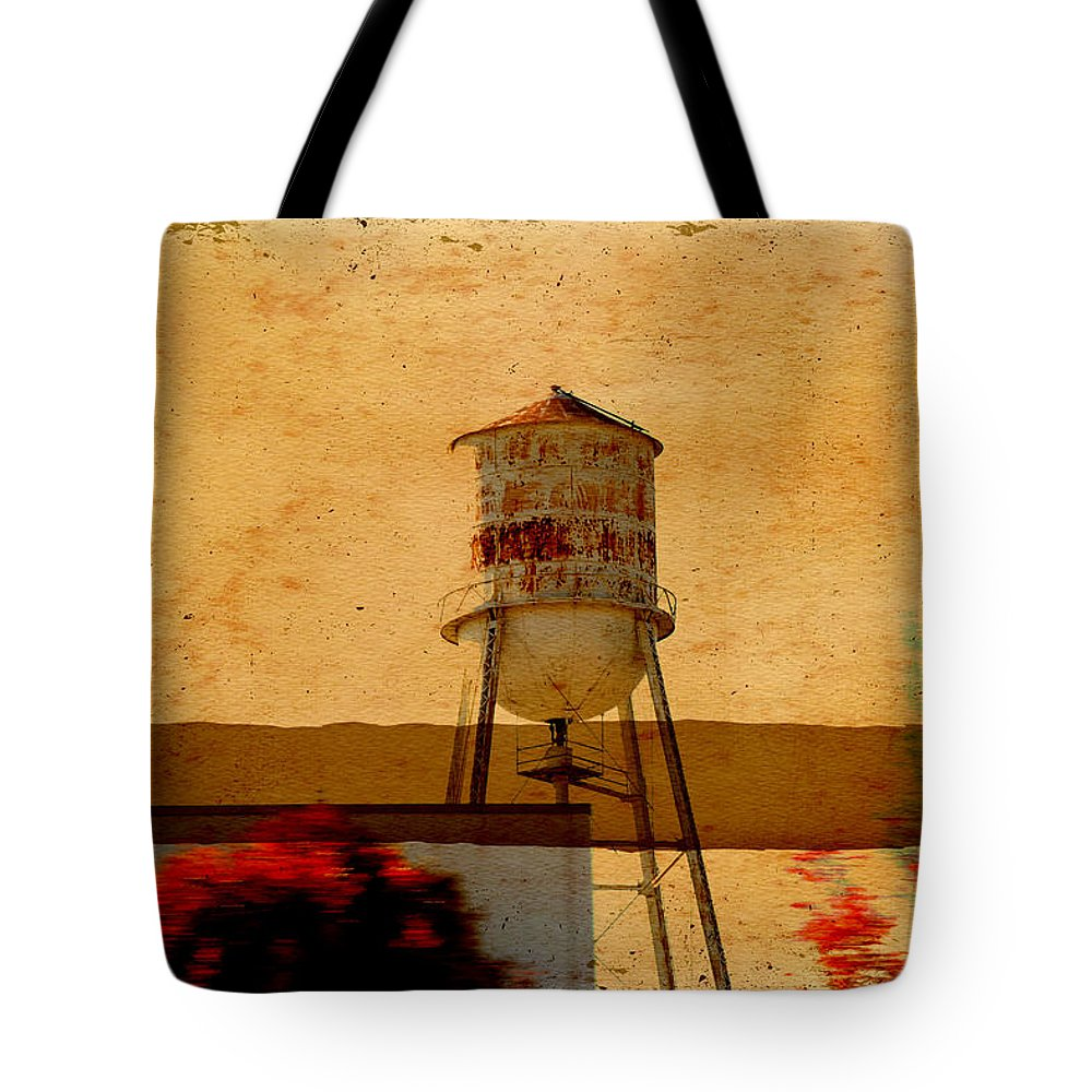 Wright Tote Bag featuring the photograph Water Tower by Paulette B Wright