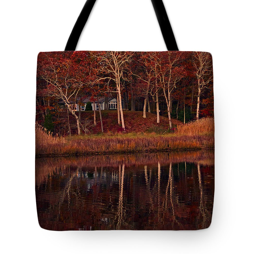 Landscape Tote Bag featuring the photograph Water View by Joe Geraci