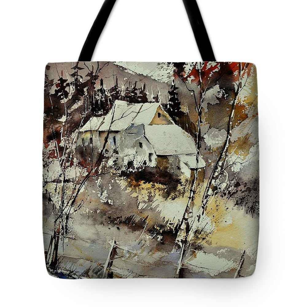 Landscape Tote Bag featuring the painting Watercolor 314001 by Pol Ledent