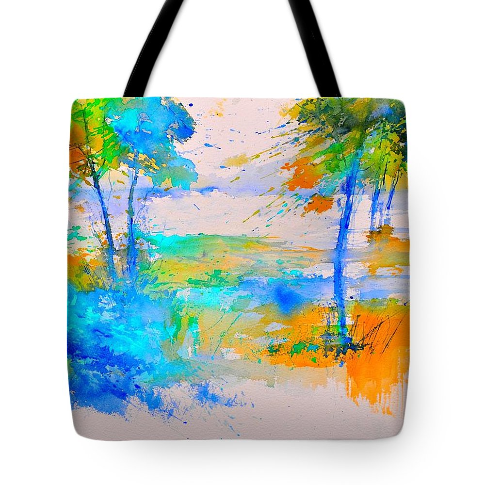 Landscape Tote Bag featuring the painting Watercolor 45314012 by Pol Ledent