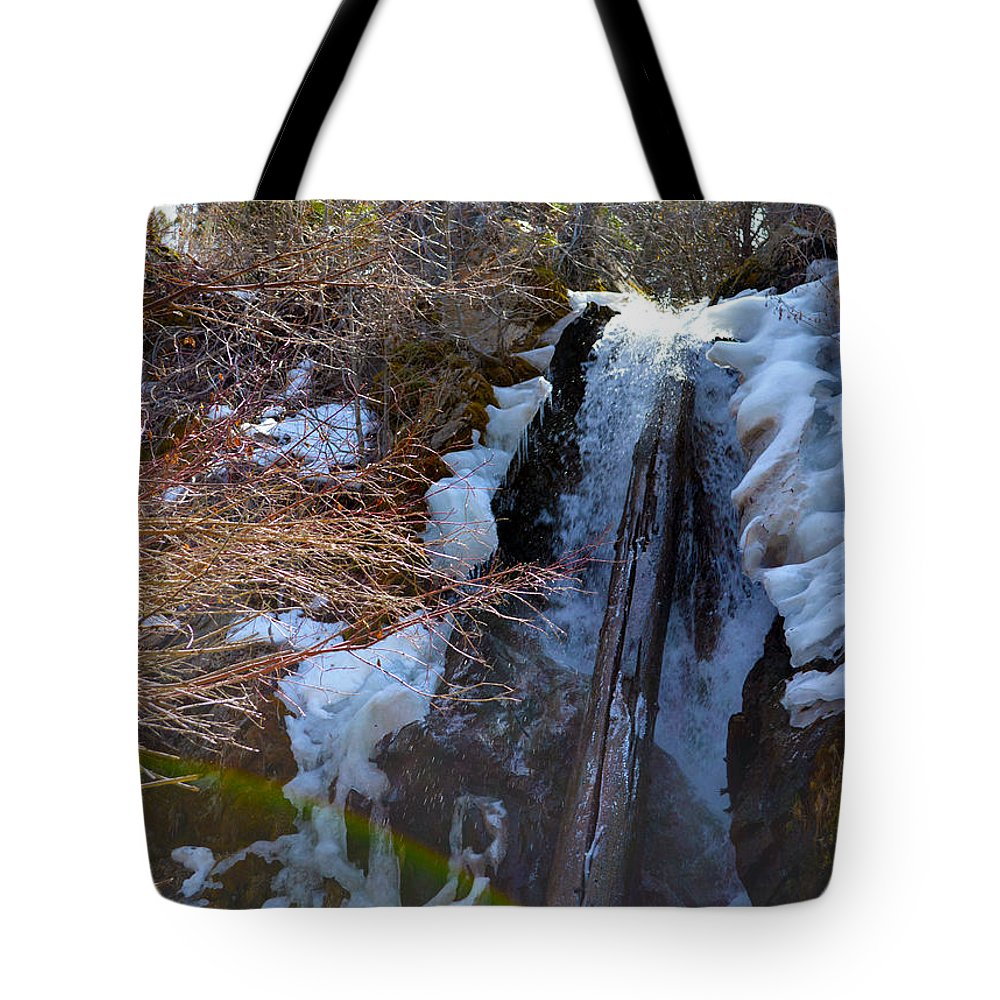 Nevada Tote Bag featuring the photograph Waterfall 2 by Brent Dolliver