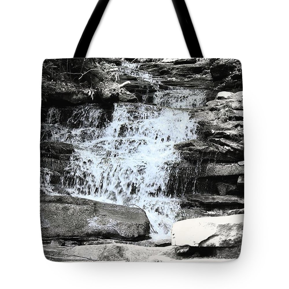 Waterfall Tote Bag featuring the photograph Waterfall 3 by John Feiser