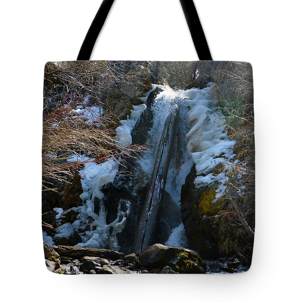 Nevada Tote Bag featuring the photograph Waterfall 4 by Brent Dolliver