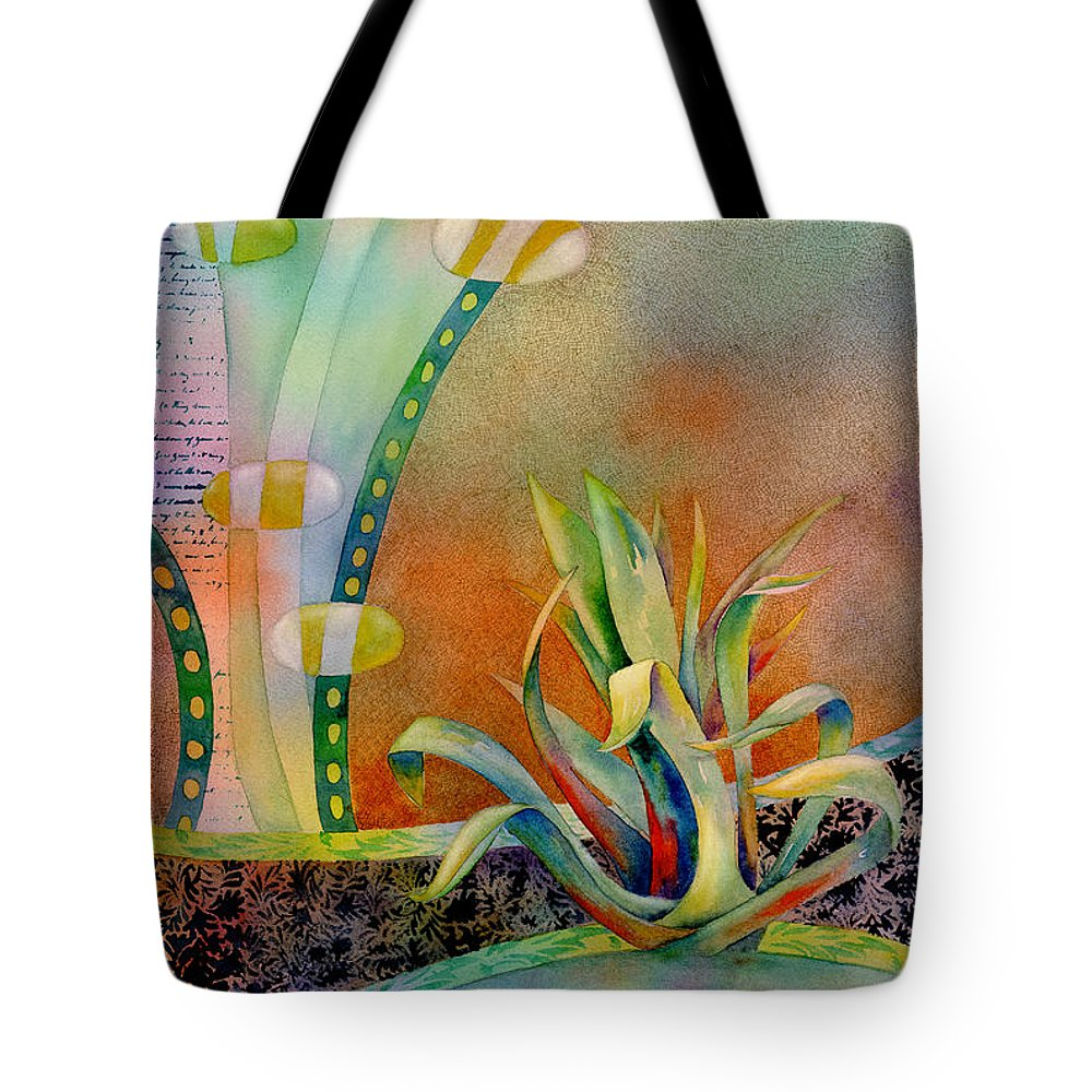 Century Plant Tote Bag featuring the painting Waterfall by Amy Kirkpatrick