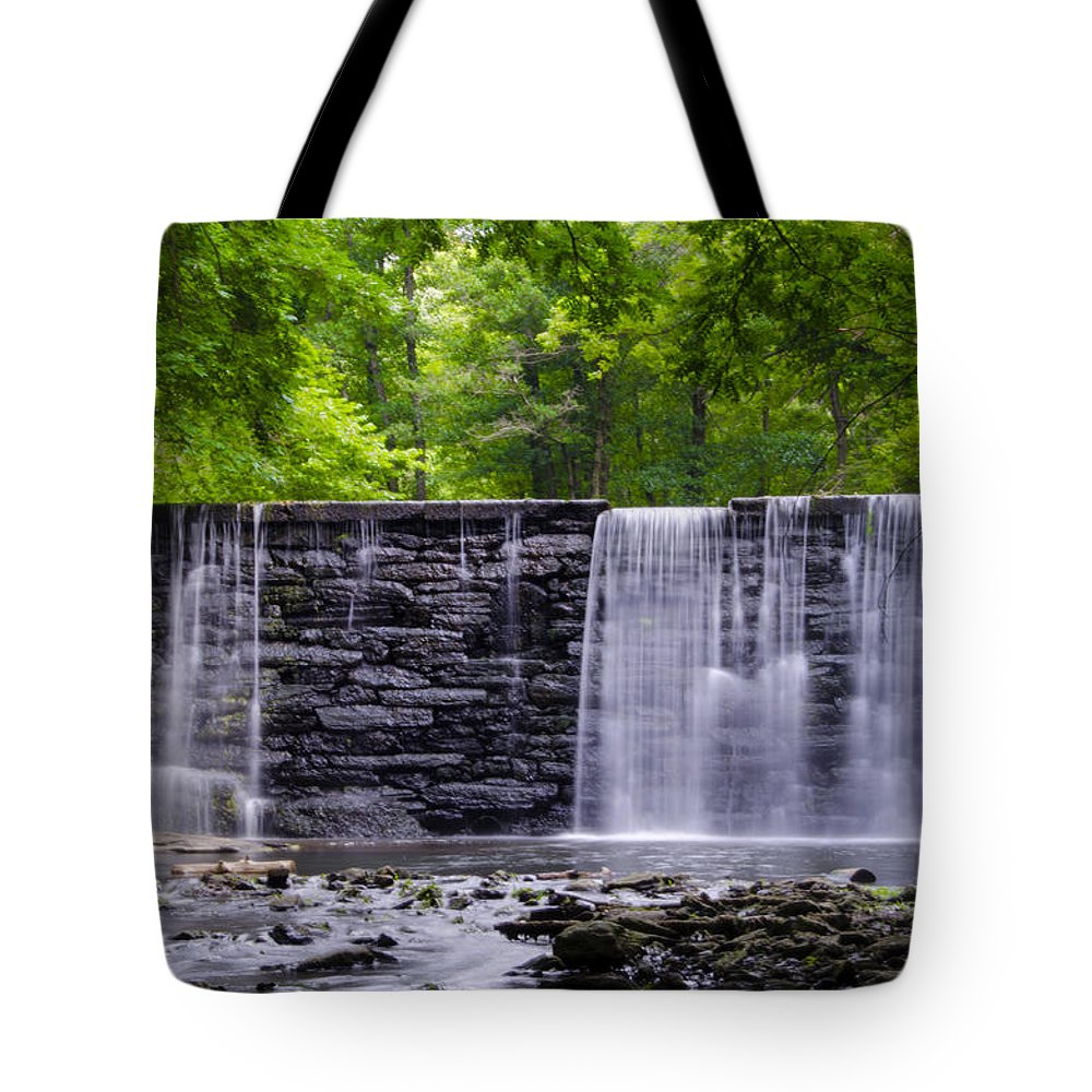 Waterfall Tote Bag featuring the photograph Waterfall by Bill Cannon
