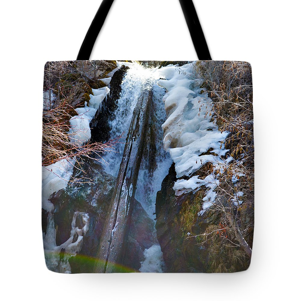 Nevada Tote Bag featuring the photograph Waterfall by Brent Dolliver
