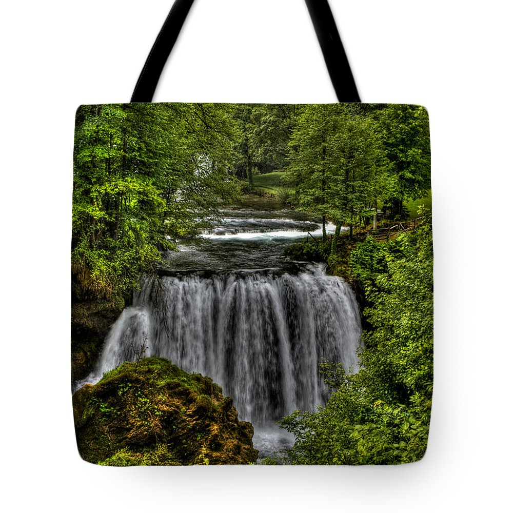 Landscape Tote Bag featuring the photograph Waterfall by Josip Horvat