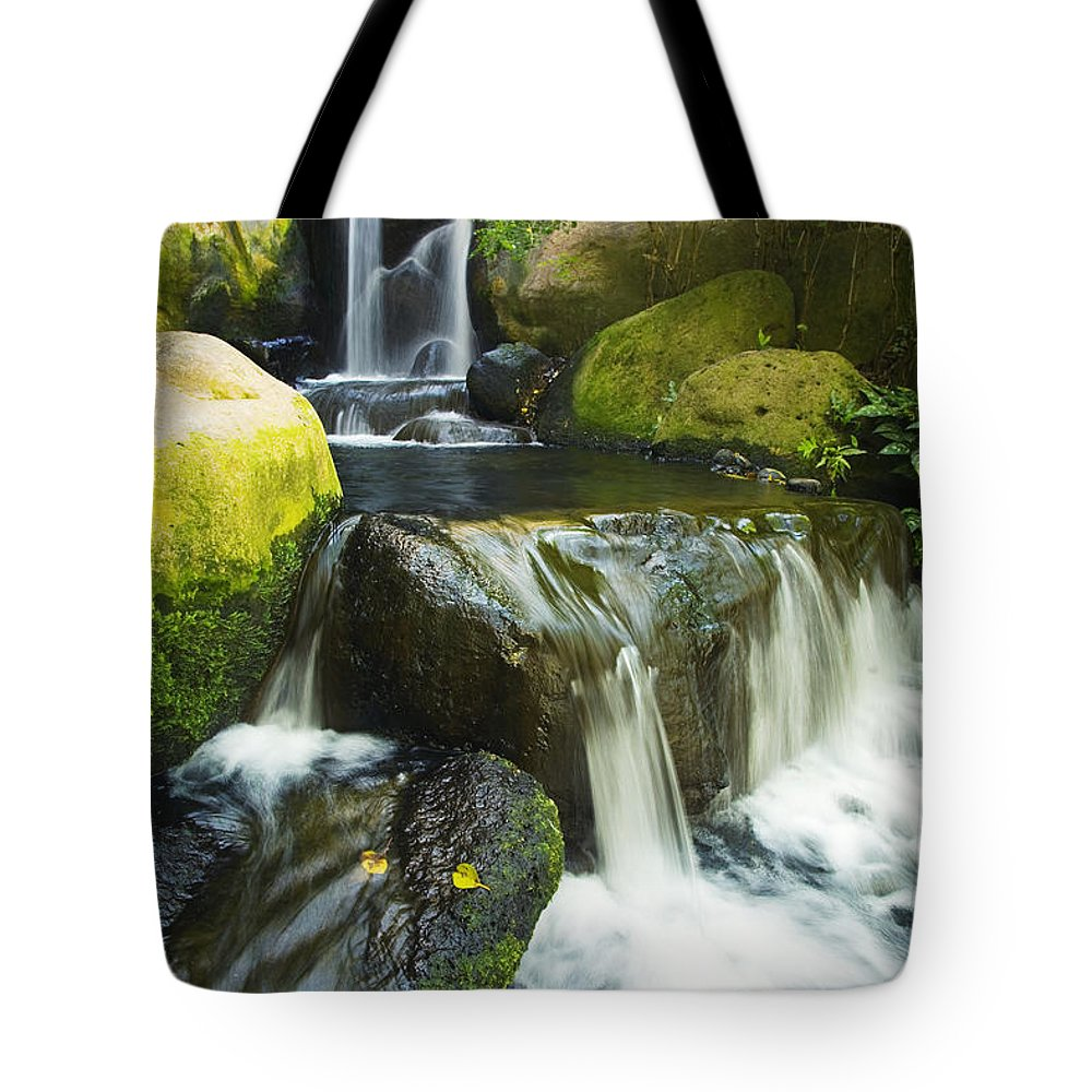 Cascade Tote Bag featuring the photograph Waterfall Stream by Ron Dahlquist - Printscapes