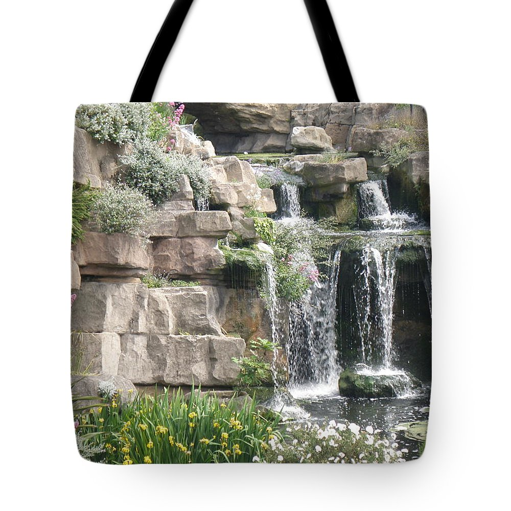 Water Tote Bag featuring the photograph Waterfall by Ted Denyer