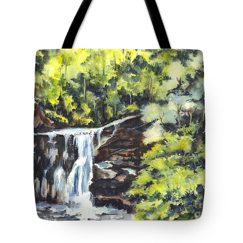 Watercolor Tote Bag featuring the painting In Central Park N Y C by Carol Wisniewski