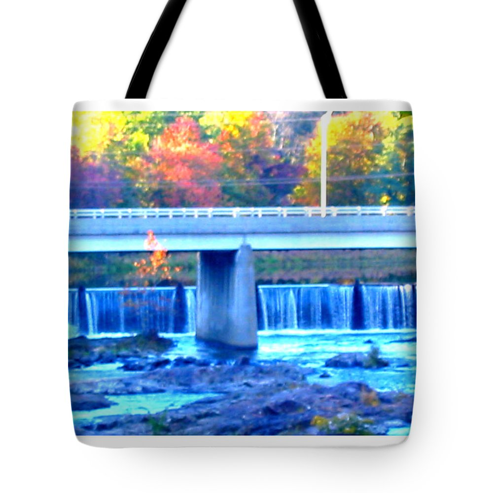 Fall Tote Bag featuring the photograph Waterfalls by Rebecca Malo