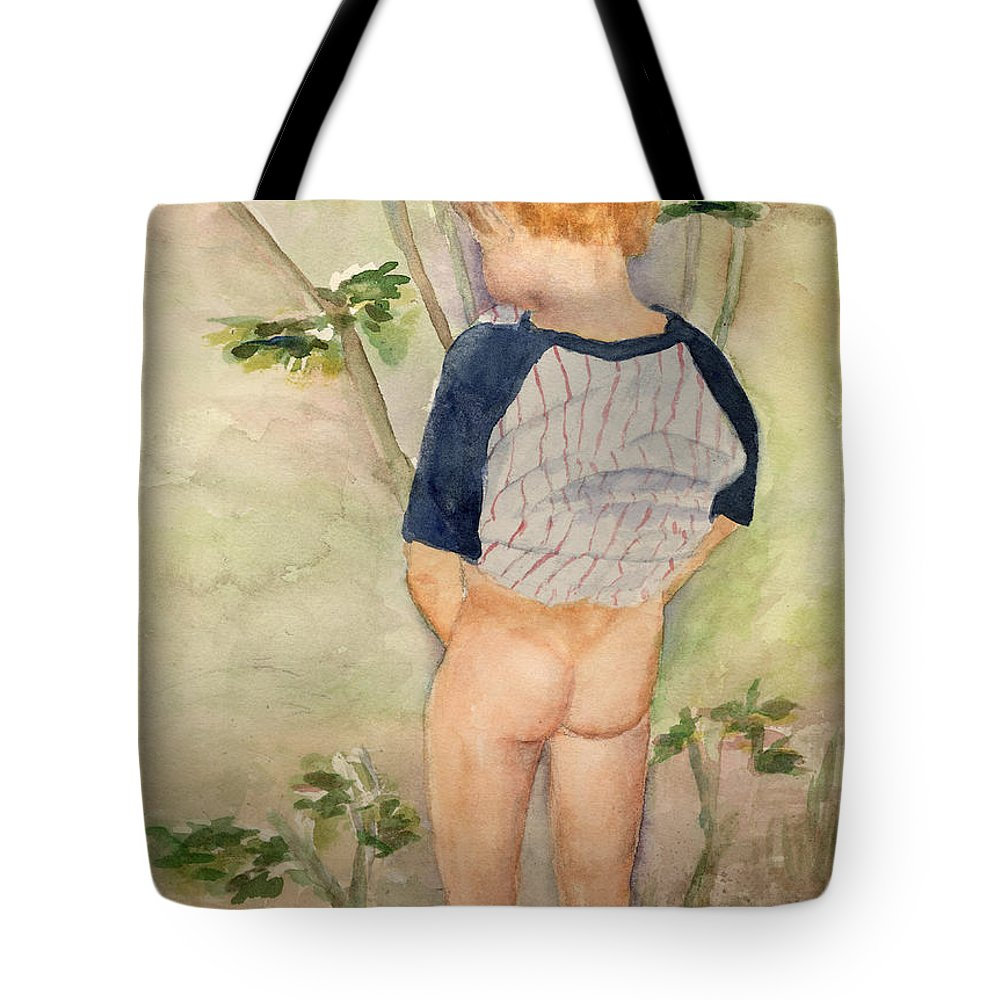 Watering The Garden Tote Bag featuring the painting Watering The Garden by Shannon O'Donnell Shannon Gurley O'Donnell
