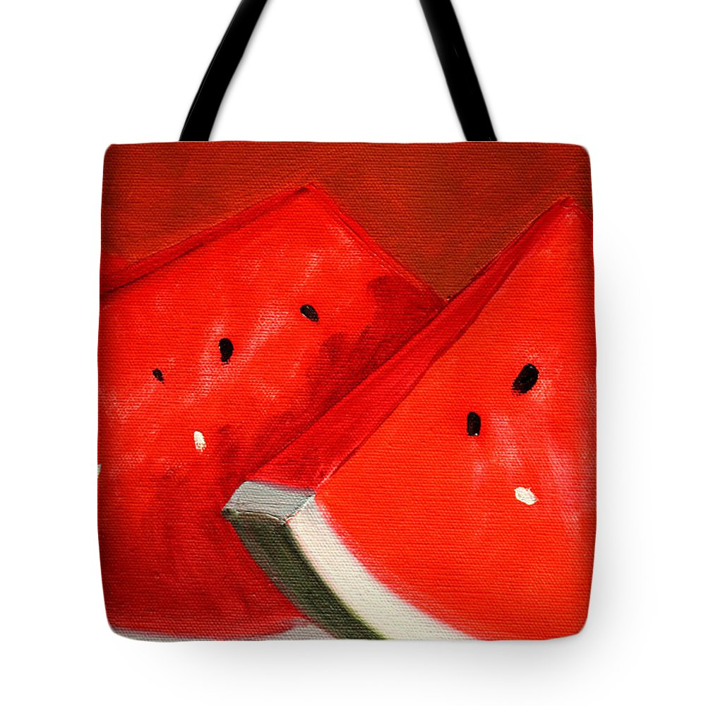 Watermelon Tote Bag featuring the painting Watermelon by Nancy Merkle