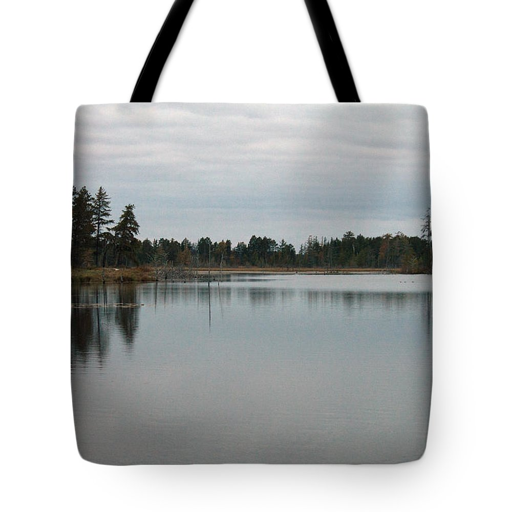 Nature Tote Bag featuring the photograph Water's Calm by Linda Kerkau