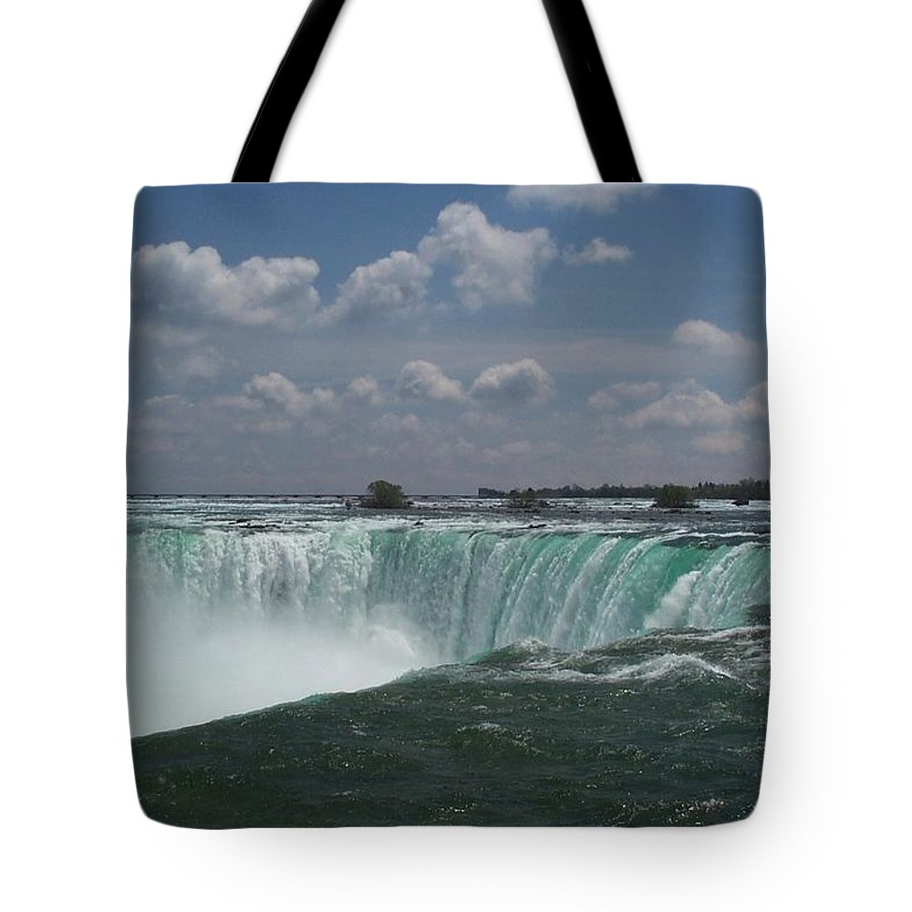 Horseshoe Falls Tote Bag featuring the photograph Water's Edge by Barbara McDevitt