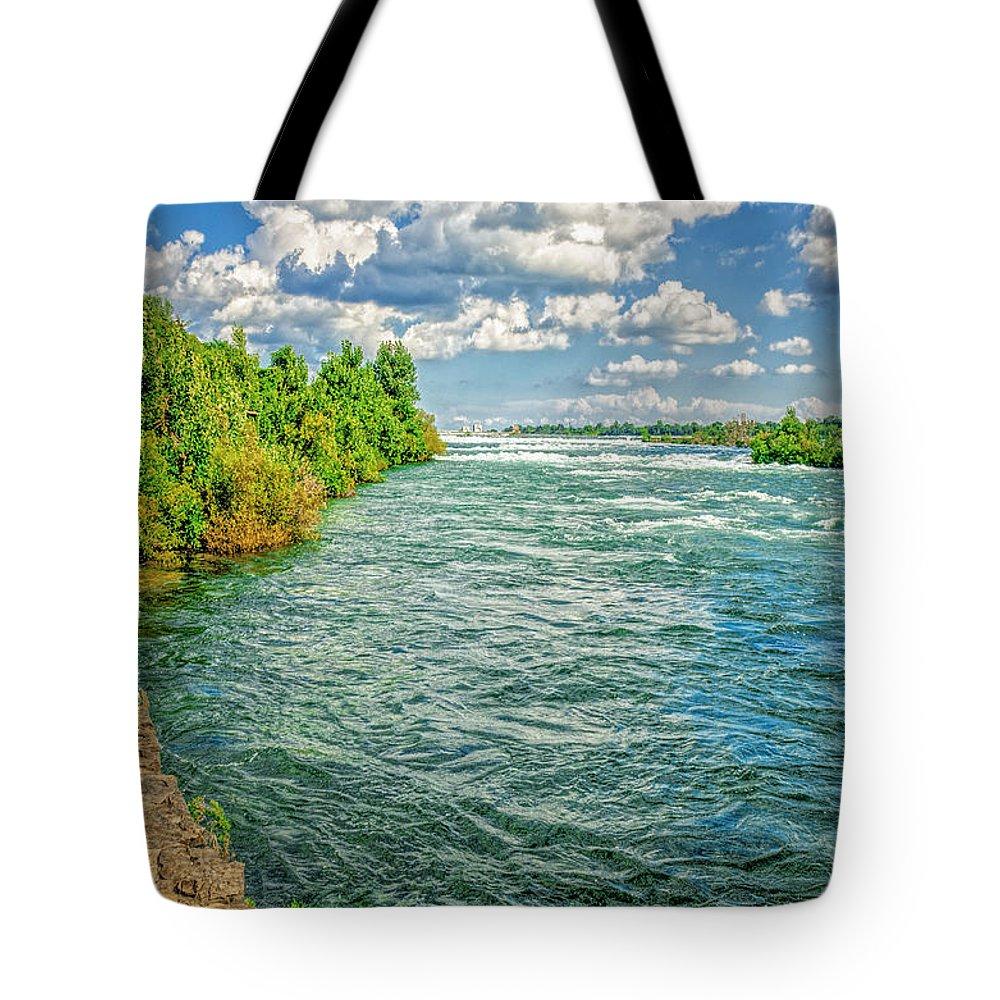Niagara Tote Bag featuring the photograph Waters Feeding Niagara Falls by LeeAnn McLaneGoetz McLaneGoetzStudioLLCcom