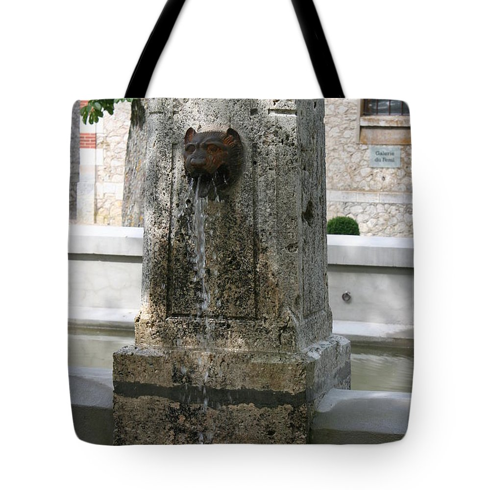 Water Tote Bag featuring the photograph Waterspout Garden Chateau Chaumont by Christiane Schulze Art And Photography