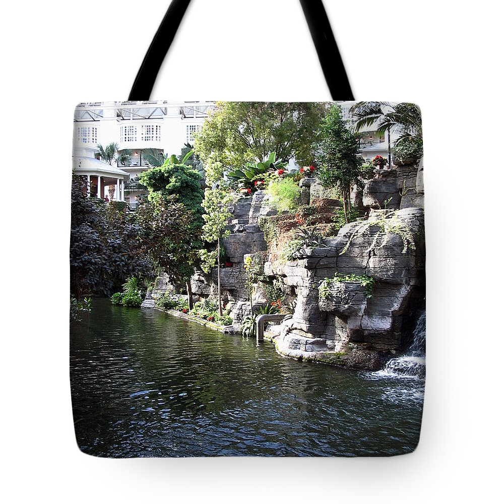 Waterway Tote Bag featuring the photograph Waterway View Inside The Opryland Hotel In Nashville Tennessee In 2009 by Marian Bell