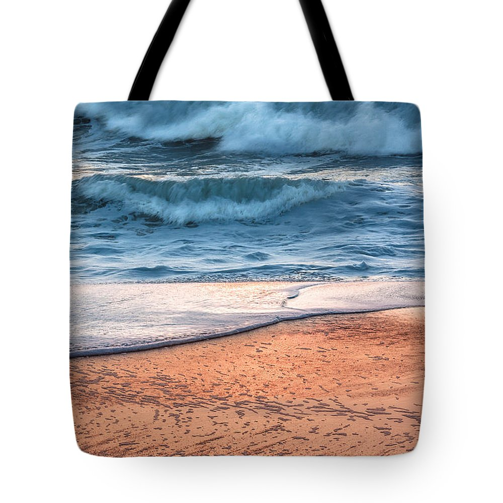 Wave Tote Bag featuring the photograph Wave After Wave by Edgar Laureano