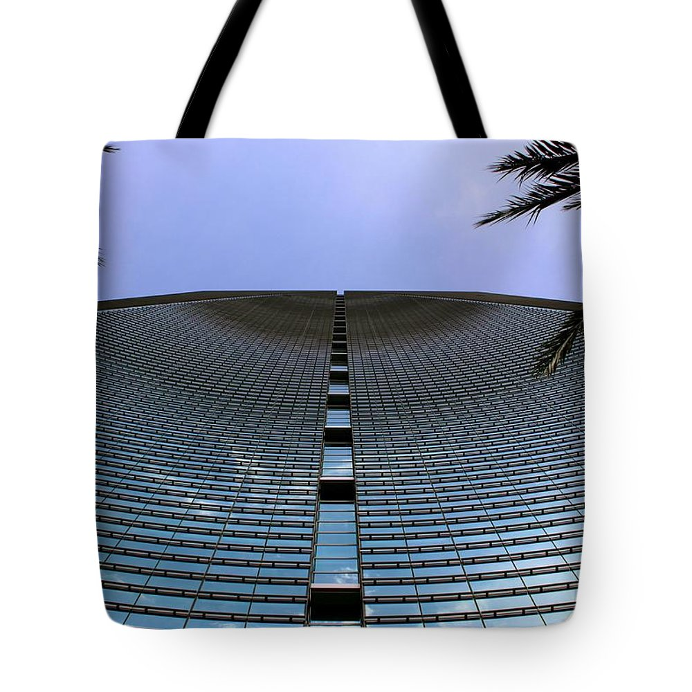 Business City Skyscraper Building Architecture Blue Tote Bag featuring the photograph Wave Business by AR Annahita